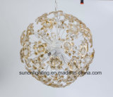 China Top Sale Gold Global Shaped Pendant Light/Chandelier Lamp