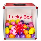 """10"""" Acrylic Small Detachable Lottery Box for Lucky Drop Event"""