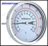 """4""""Bimetal Thermometer, Back Type, with Reset Button"""