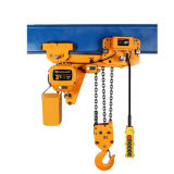 Low Headroom Electric Monorail Lifting Construction Gear Chain Hoist 7.5t