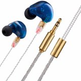 Dual Driver in-Ear Earphones, Wired Stereo Sport Earbuds with Mic and Noise-Isolating Headphones