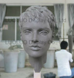 ODM Realistic Female Head Mannequin with Hair 6330