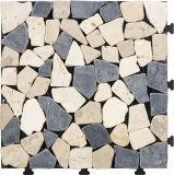 Outdoor Flooring DIY Interlocking Mosaic Travertine Tile