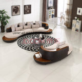 New Design Living Room Metal Legs Leather Sofa (UL-NSC178)