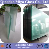 Clear Float Laminated Architectural Glass with Milky White PVB