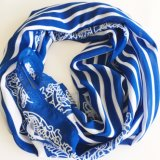 New Customized Screen Printing Thin Lady′s Polyester Scarf (SC022)