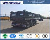 Cimc 60 Ton 3 Axle Rear Dump Semi Trailer Truck Chassis