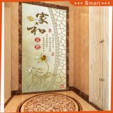 3D Door Decorations Wall Paper Chinese Classic Culture Oil Painting