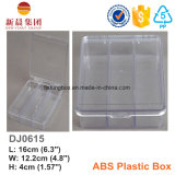 Clear Lids & Bottom 3 Compartment Plastic Box