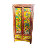 Chinese Antique Painted Tall Cabinet Lwa455