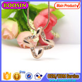 Fashion Pink Gold Lucky Necklace with Snake Chain