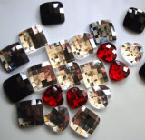 China Factory Price Square Rhinestone Flatbacks Glass Crystal Stone