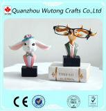 Rabit Deer Glasses Stand Handmade Resin Craft Glasses Holder