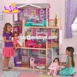 Best Design Big Size Kids Wooden Elegant Doll House Set with Furniture W06A227
