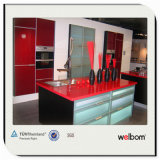 2016 Welbom Red Lacquer Kitchen Furniture