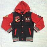 Winter Boy Fleece Baseball Hoodies Clothes in Kids Sport Wear Clothing Sq-6228