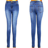 Wholesale Lady's Blue Jeans with 5 Pockets