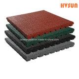 Outdoor Indoor Playground Rubber Tile / Fitness Rubber Mat / Crossfit Gym Rubber Floor