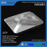 Aluminum Foil Container Mould Three Compartment