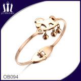 Rose Horse Bell Charm Bracelet for Girl
