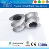 Screw and Barrel Design for Plastic Double-Screw Extruder Machine