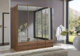 Modern Mirror Hinged Door Wardrobe (HF-EY082)