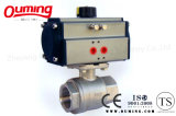 2PC Threaded Pneumatic Actuator Control Ball Valve with ISO 9001