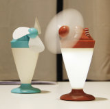 Ice Cream LED Desk Lamp with Fan