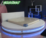 A542 Round Bed Furniture with LED Light