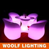 Illuminated Light up LED Modern Restaurant Furniture