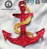 Fashion New Rhinestone Customized Rudder Embroidery for Decoration