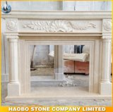 Home Decoration Natural Indoor Carved Marble Fireplace on Sale