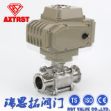 Stainless Steel Floating 3PC Clamp Ball Valve with Electric Actuator