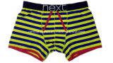 New Style Men′s Boxer Short Underwear with Yarn-Dyed Stripe