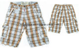 Leisure Casual Lattice Cotton Cargo Jogger Washing Pants for Man