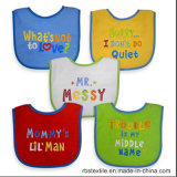 100% Cotton Baby Bib with Embroidered Cute Designs
