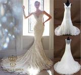 Mermaid Sexy Wedding Dress with Lace Trim Applique