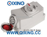 IP67 4p 32A IEC Socket with Switch