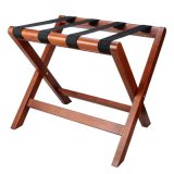 Wooden Hotel Luggage Racks with 4 Durable Black Bar