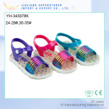 Colorful Candy Child Flat Printing PVC Girls Sandal