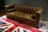 Full Leather Living Room Office Sofa Bench, Sofa Chair with Single Seating