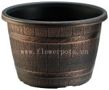 Plastic Barrel Flower Pot (KD7101S-KD7104S)