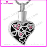Heart with Crystals Cremation Jewelry Pendants Cremation Necklaces Pendants for Ashes