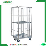 4 Door Wire Folding Roll Cage Container with Castor