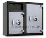 Flh2731cc All Steel Depository Safe with Two Combination Locks, 0.37cbm, Black and Grey
