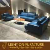 Moder Italy Design blue Color Combination 1+2+3 Leather Sofa (L038)