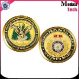 Brass Stamped Customized USA Police Challenge Coins for Souvenir