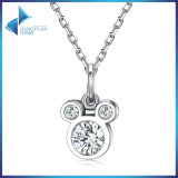 New Arrival Disney Miky Mouse Dazzling CZ Stone 925 Sterling Silver Pendant Necklaces