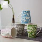 China Origin 11oz Square Bottom Ceramic Mugs Creative Design