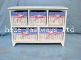 Wooden Cabinets with Willow Drawers
